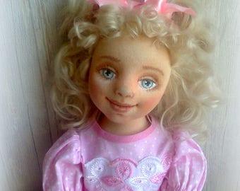 Textile doll Anya. Height 47cm