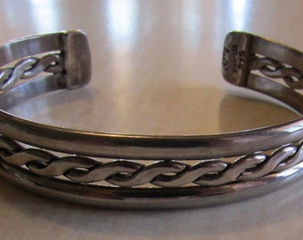 Sterling Silver Cuff Bracelet from Mexico.