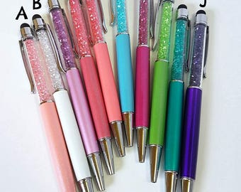 Colorful Crystal Stylus Ballpoint Pens