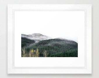 Alaska Foggy Mountainscape Photography Print