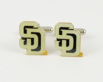 San Diego Padres Cuff Links -- FREE SHIPPING with USPS First Class Domestic Mail