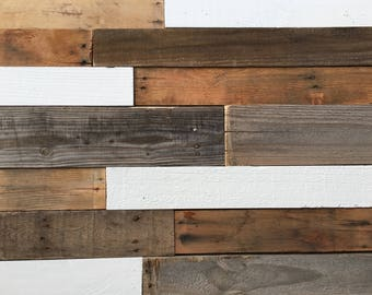 Reclaimed Wood Planks 25 sq ft - Shiplap - Recycled Wood - Accent Wall