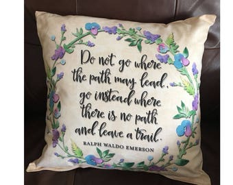 Follow Path Emerson Throw Pillow