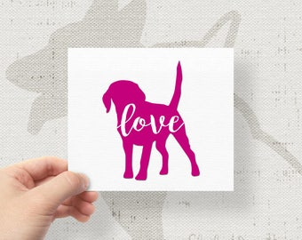 Puppy Love Decal All Breeds Available Labrador Retriever Sticker Vinyl