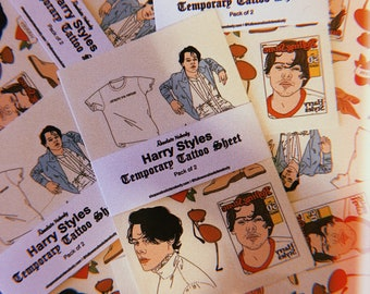 Harry Styles Temporary Tattoos 2 Pack