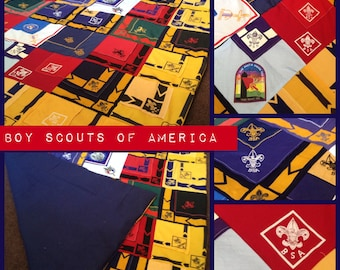 BoyScouts Cubscouts scarf Memory Blanket - custom made to oder