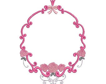 Instant download machine  embroidery design frame once upon a time