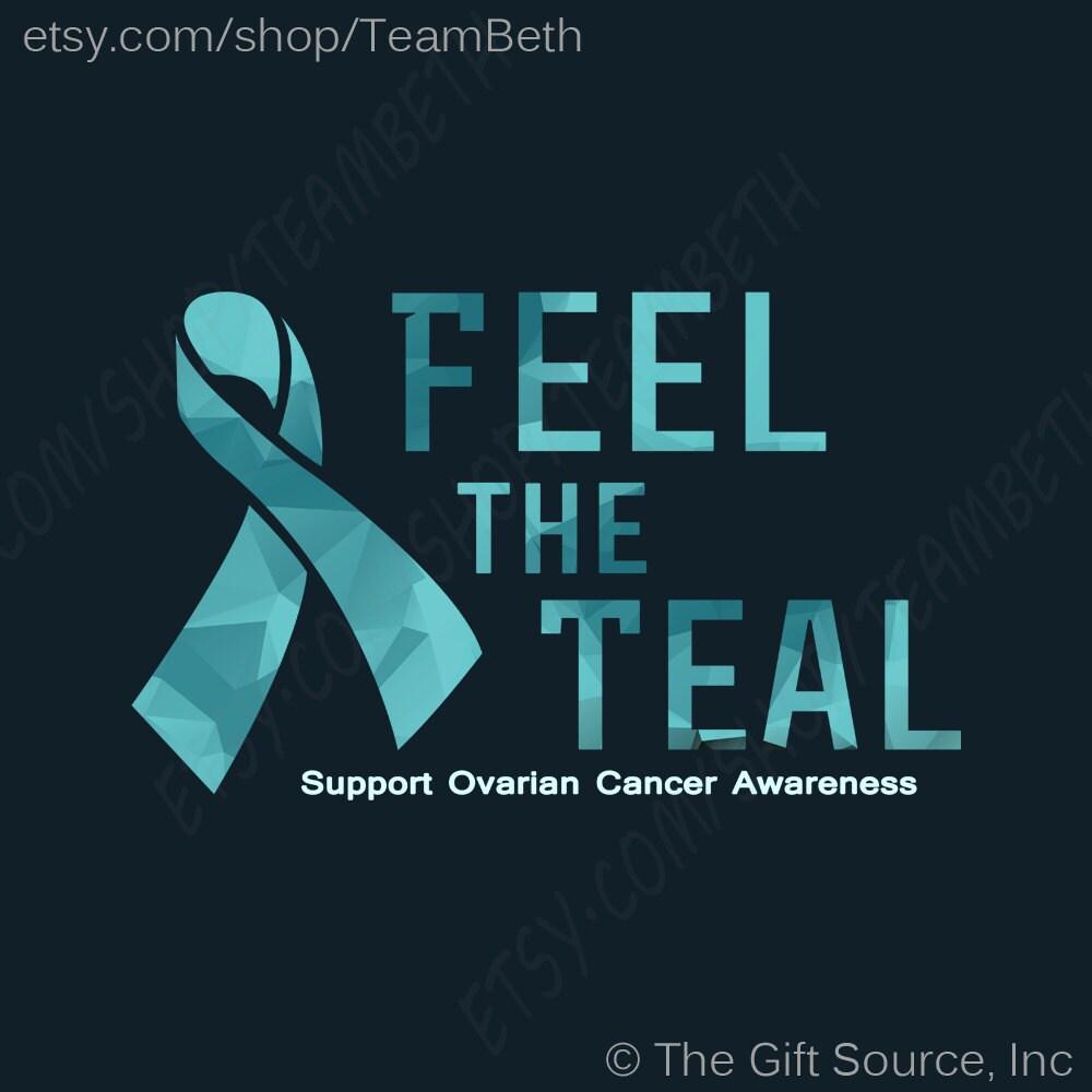 Ovarian cancer t shirt teal awareness slogan feel the teal zoom biocorpaavc