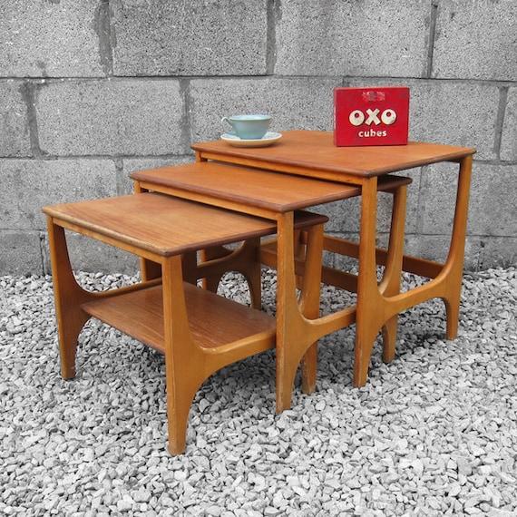 Modernist Trio Coffee Tables Nest Kitsch GPlan Retro Mid Century