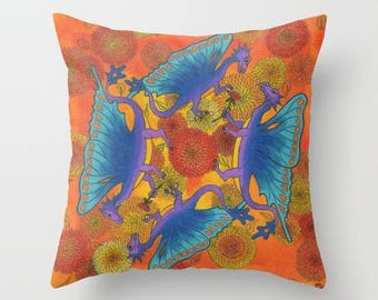 Fall Dragons Pillow