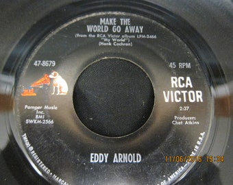Eddy Arnold: Make the World Go Away & The Easy Way - RCA Victor 45 RPM