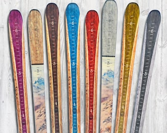 Wooden Ski Growth Chart / Kids Wood Height Chart / Personalized Child Growth Chart  / Baby Shower Gift