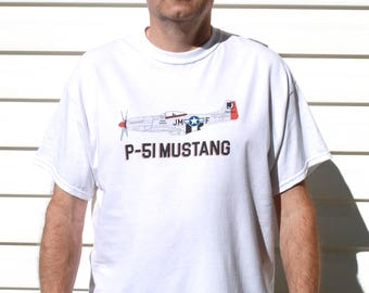 P-51 Mustang – Men's WWII T-Shirt (White)