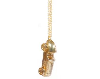 CHRISTMAS SALE > Necklace Pendant 'Golden' Car Monopoly