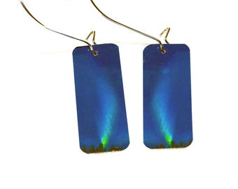 "Northern Lights earrings 2"" total length"