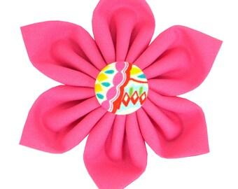 Pink Dog Collar Flower/ Colorful Dog Flower/ Collar Attachment: Confetti
