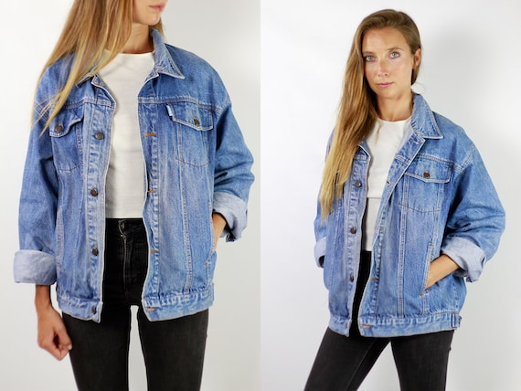 Denim Jacket Vintage Denim Jacket Oversize Jean Jacket 90s Denim Jacket 90s Jean Jacket Blue Jean Jacket Large Denim Jacket Grunge JJ248