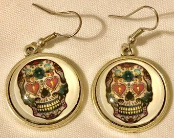 Sugar skull dangle Earrings