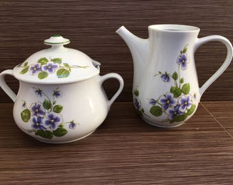Porcelain jug and Soup Tureen - 2 pc set Vintage 60's röslau Bavaria Porcelain - Bavaria porcelain - Bavaria Soup Tureen and jug