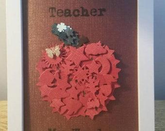 Customised World's Best Teacher framed gifts. Unique
