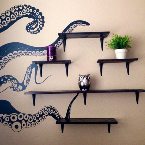 Large Kraken Octopus Tentacles Vinyl Wall Decal-Choose Any Color