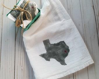Texas ~ Flour Sack ~Kitchen Towel ~ Tea Towel