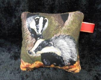 Pin cushion - ambling badgers