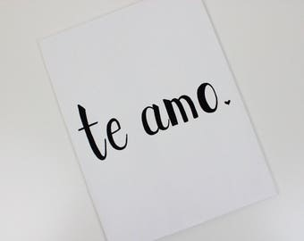 Mothers Day Gift, Te Amo, Original Painting, Te Amo Sign, Te Amo Decor, Quote Wall Art, I Love You More, I Love You I Know, Gift For Her