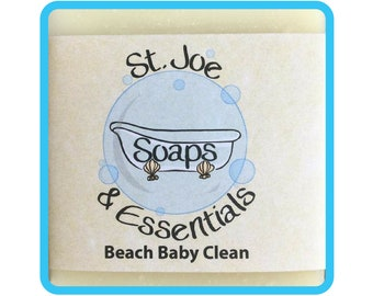 Beach Baby Clean Soap, Handmade Soap, All Natural Soap, Organic Saponified Olive Oil, Coconut Oil, Shea Butter, Fragrance Oil