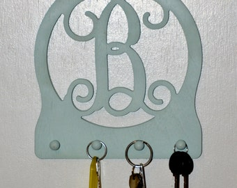 Single Initial Keychain Holder