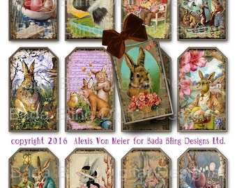 Did Someone Say Easter Bunny?  gift tags,  INSTANT Digital Download at Checkout, printable gift tags, Easter collage sheets,