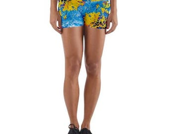 Rust In Peace Yoga Shorts - Active/Athletic/Dance Wear - Roller Derby Apparel - Spanks