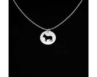 French Bulldog Necklace - French Bulldog Jewelry - French Bulldog Gift