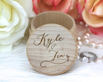 Custom Wedding Ring Box, Wooden Ring Box, Ring Bearer Box, Engraved Wooden Box, With This Ring Box, Proposal Ring Box