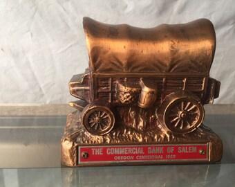 Vintage Banthrico Coin Bank -  Conestoga Covered Wagon  (BTC05)