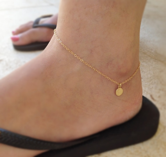 dainty bridesmaid shop bracelet opal gold gift on heart anklet jewelry wanelo foot