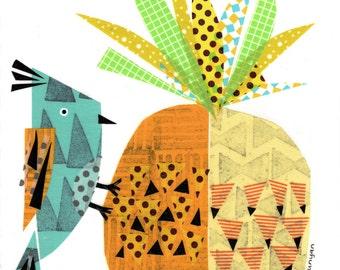 Bird on Pineapple