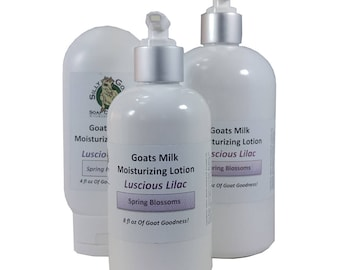 Lilac Lotion, Body Lotion, Lilac Scented Lotion, Goat Milk Lotion, Goats Milk Lotion, Moisturizing Lotion