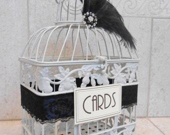 Gatsby Inspired Wedding Card Box | Wedding Birdcage Card Holder | Bird Cage Card Holder | 1920s Themed Wedding | Vintage Hollywood Style