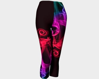 Capri Leggings, Red Yoga Pants, Abstract Leggings, Printed Tights, Black Leggings, Purple Printed Leggings, Gapri Pants, Sport Leggings