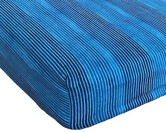 Crib sheet, blue crib sheet, nursery bedding, blue nursey sheet, blue crib bedding, crib bedding