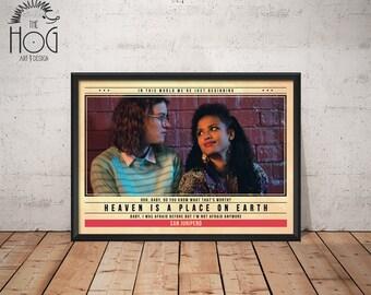 SAN JUNIPERO - Black Mirror - Unique Retro TV Poster - Movie Print, Film Poster, Wall Art, Black Mirror Artwork