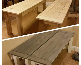 Custom wood Benches made to order