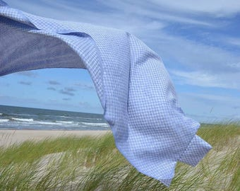 Linen BEACH blanket, picnic blanket, beach plaid