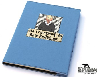 Book A4, farewell gift, blue photo book, farewell-gift colleague, retirement anniversary, goodbye, made in germany, kultspecht design