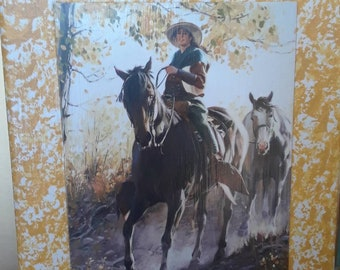 Cowgirl picture ,riding the range, western horseback riding,camping,cattledrive