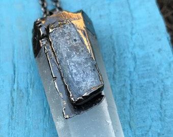Crystal Quartz with Kyanite Pendant