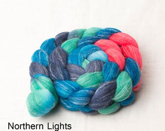 Beautiful Targhee, Bamboo and Silk Roving for spinning or felting