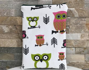 Waterproof storage organization case pouch: owls