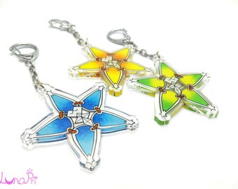 """Double Sided 2"""" Clear Acrylic Paopu Wayfinder Charms"""